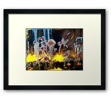 Fae and Fireworks Abstract Framed Print