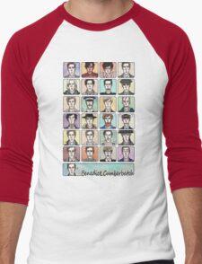 Benedict Cumberbatch Faces Men's Baseball ¾ T-Shirt
