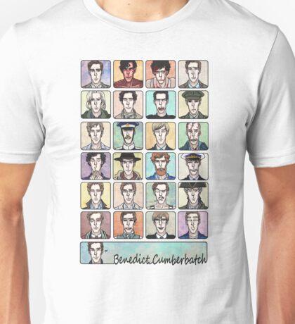 Benedict Cumberbatch Faces Unisex T-Shirt