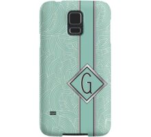 1920s Blue Deco Swing with Monogram letter G Samsung Galaxy Case/Skin