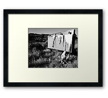 Your Name in Lights Black and White Framed Print