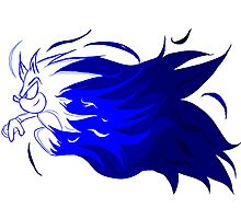 Sonic Flaming Dash Logo Photographic Print