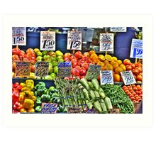Market Fruit & Veggies Art Print
