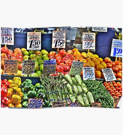 Market Fruit & Veggies Poster