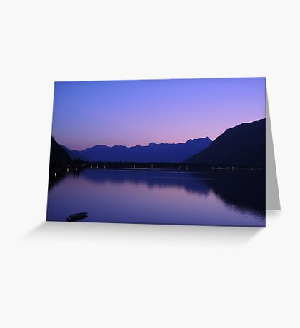 Zell Am See: Lone boat at Dusk Greeting Card