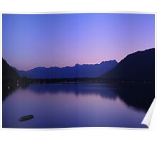 Zell Am See: Lone boat at Dusk Poster