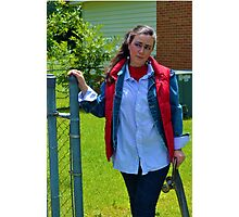 Back to the Future Marty McFly Cosplay Photographic Print