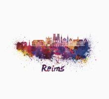 Reims skyline in watercolor Kids Tee