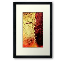 Tequila Sunset Abstract Framed Print