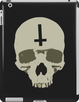 Inverted Cross Skull by myacideyes