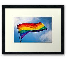 Love Wins by Kordial Orange Framed Print