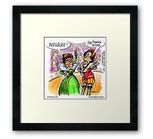 Palin & Shakespeare Refudiate by Londons Times Cartoons Framed Print