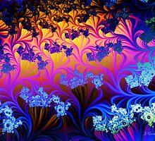 Fractal Sunset by Julie Everhart