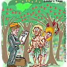 1st Census Takers by Londons Times Cartoons by Rick  London