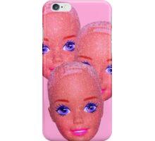 glitter barbie heads iPhone Case/Skin