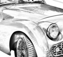 1957 Triumph TR3 Convertible Sports Car Illustration Sticker