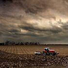 Ploughing in November - Norfolk, UK by Kathy Wright