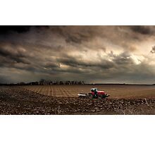 Ploughing in November - Norfolk, UK Photographic Print