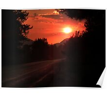 Sunset on the way to Halicarnassus Poster