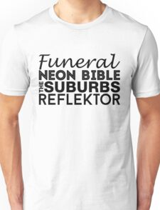 Arcade Fire Discography Unisex T-Shirt