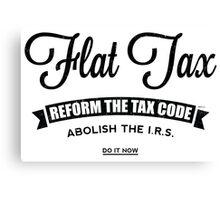 Flat Tax Canvas Print