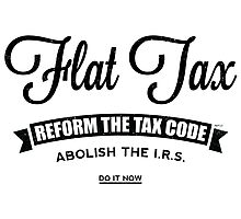 Flat Tax Photographic Print