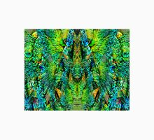 Mirrored Peacock Feather Design Unisex T-Shirt