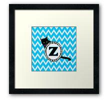 Z Cat Chevron Monogram Framed Print