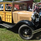 Ford Model A Woodie Delivery Wagon by Debbie Robbins