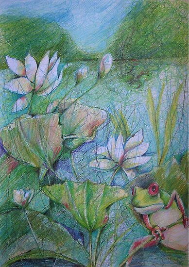 HUGO THE RED EYED FROG by BrigitteHintner