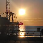 sunset blackpool by rebecca metcalf