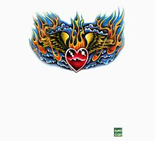 Flaming Winged Heart Unisex T-Shirt