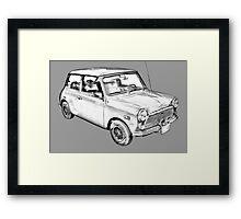 Mini Cooper Illustration Framed Print