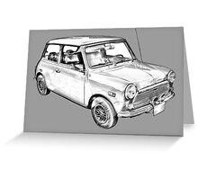 Mini Cooper Illustration Greeting Card