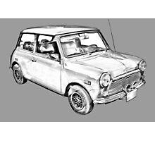 Mini Cooper Illustration Photographic Print
