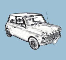 Mini Cooper Illustration Baby Tee