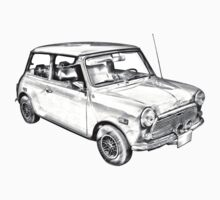 Mini Cooper Illustration Kids Clothes