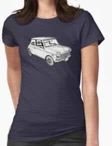 Mini Cooper Illustration Womens Fitted T-Shirt