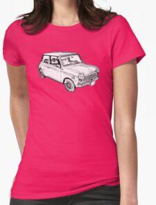 Mini Cooper Illustration Womens Fitted T-Shirt