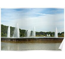 Fountains in a dream garden  Poster
