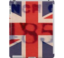 British Flag with Numbers iPad Case/Skin