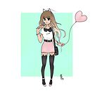 Trendy Cat Girl by BrittanyPurcell