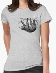 Vintage Sloth Womens Fitted T-Shirt