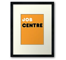 Job Centre - 1980s style unemployment office  Framed Print