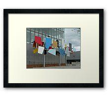Coloured panel outside BBC Scotland Framed Print