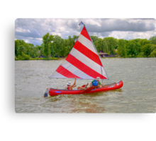 Afternoon Sailing the Canoe Canvas Print