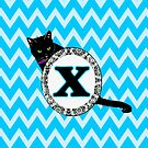 X Cat Chevron Monogram by gretzky