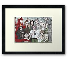Hobbit Party Framed Print