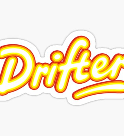 Retro Rowntree's Drifter chocolate bar pack logo Sticker