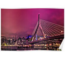 Zakim bridge, Boston MA Poster